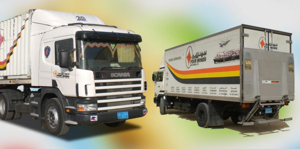Four Winds Bahrain trucks - experts among logistics companies in Bahrain