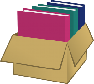 box with books