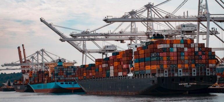 Import customs clearance documents- a ship