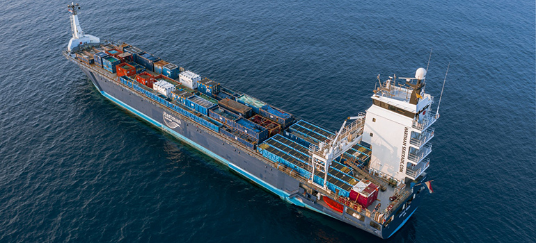 container ship tracked using modern shipping industry tech