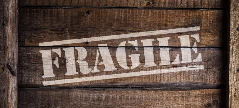 A crate with fragile written on it can improve your company's shipping process