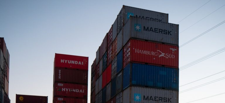 Containers at the dock