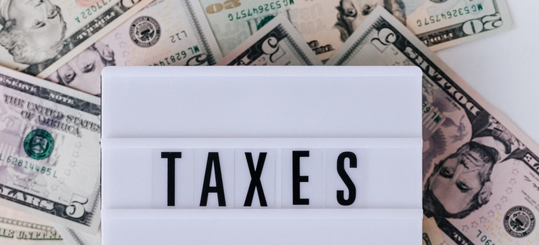 Taxes and some money for finding a job after moving to Bahrain