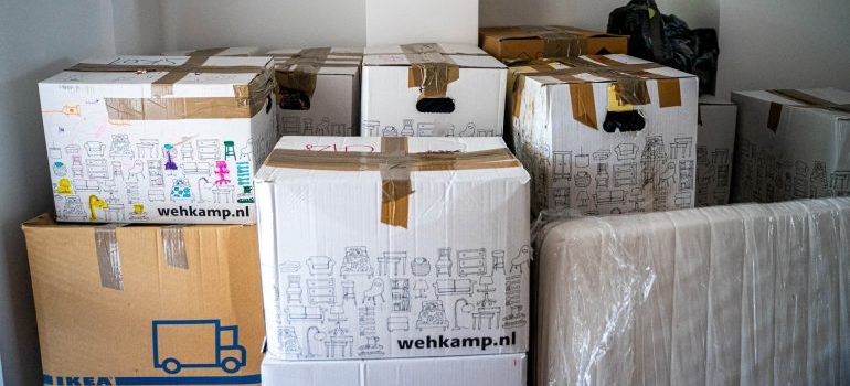 Packed boxes