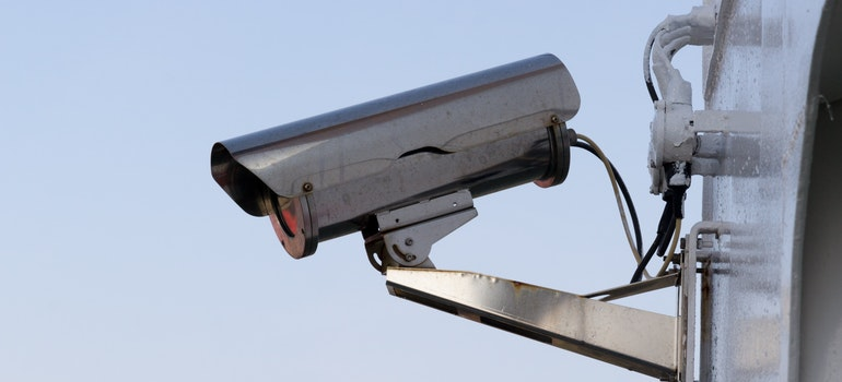 A CCTV camera to ensure the safety of your things when you are searching for storage in Bahrain