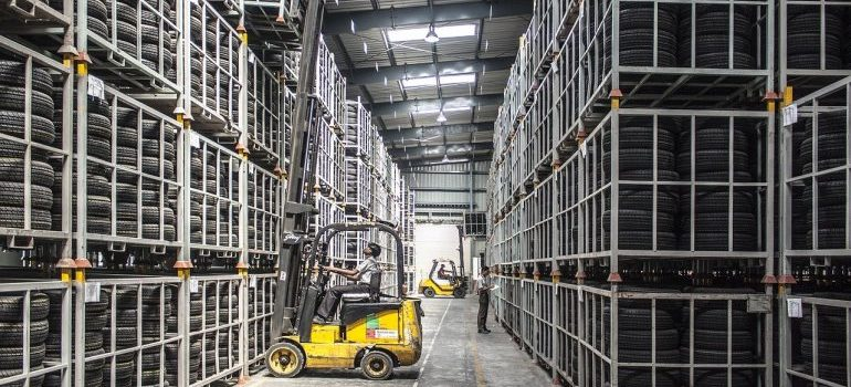 Inside of a Cold chain warehousing solutions in Bahrein